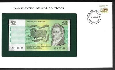 1979 Banknotes of All Nations Australia 2 Two Dollars UNC