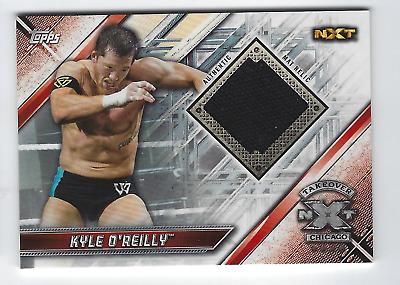 Kyle O'reilly 2019 Topps Wwe Raw Nxt Takeover Chicago Authentic Mat Relic