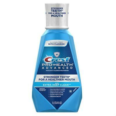 Crest Pro-Health Mouthwash Advanced Extra Deep Clean 1 Liter 33.8oz 2 Pack