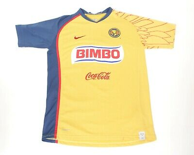 a284b79c277 Nike CA Club America Soccer Jersey Bimbo Coca Cola Yellow Blue Youth Sz XL  18-