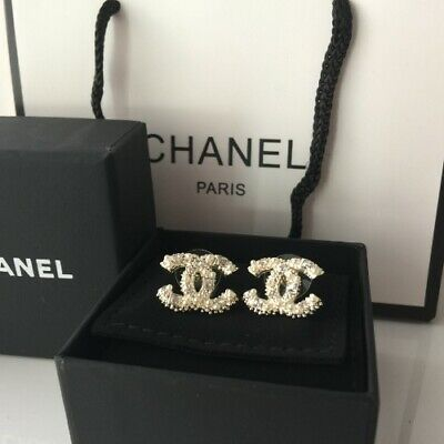 17db78c42168 CHANEL PEARL CC Crystal Flap Bag Quilted Iridescent Fabric Small ...