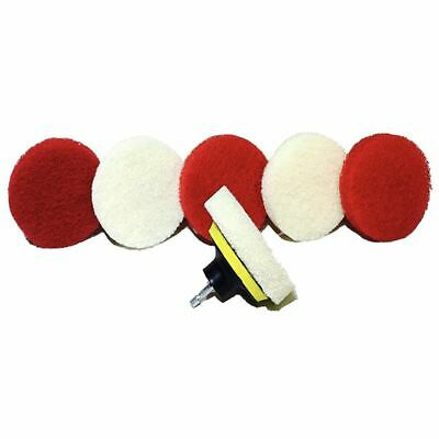 1X(Drill Brush Scrub Pad With Drill Attachment For Tile, Sink, Water Spot, Z1N8