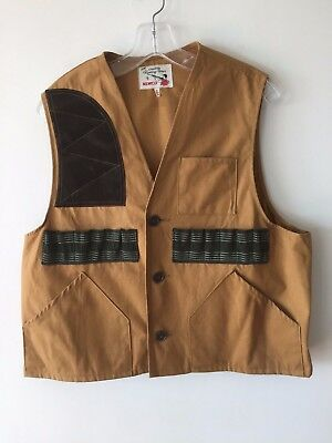 3533a84468056 VINTAGE TAPATCO CUMBERLAND Hunting Vest Shotgun Shooting Game Shell ...