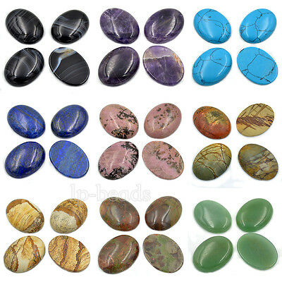 30x40mm Large Oval Cabochon CAB Flatback Semi-precious Gemstone Wholesale