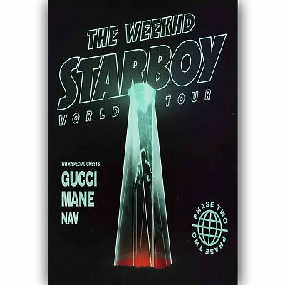 B1231 New The Weeknd Starboy 2017 Rap Music-Art Silk Cloth Wall Poster