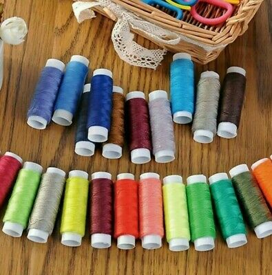 Large Set of 9 Reels of Mixed Colour Selection Sewing Thread Spools Fast Postage