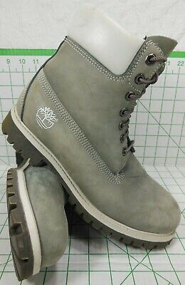 Timberland® 27039 Premium Classic Gray Men's Leather Lace Up Boots Sz 8 M🌹