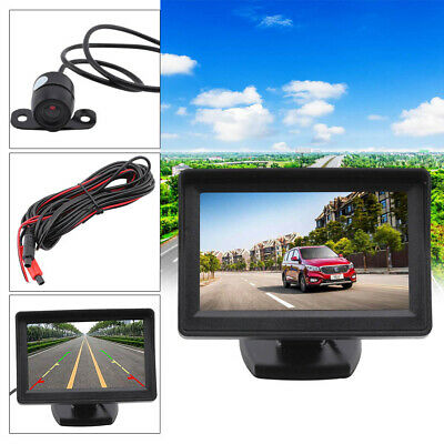 "4.3"" LCD Monitor + 1 x Rear View Reversing Camera Kits For Car Bus Truck UK"