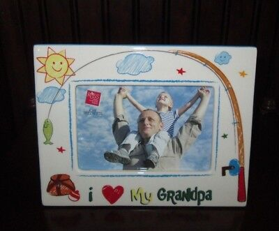 """/""""My Grandpa/'s the B Brand New Rare Chatterbox Ceramic Frame for a 4 x 6/"""" Photo"""