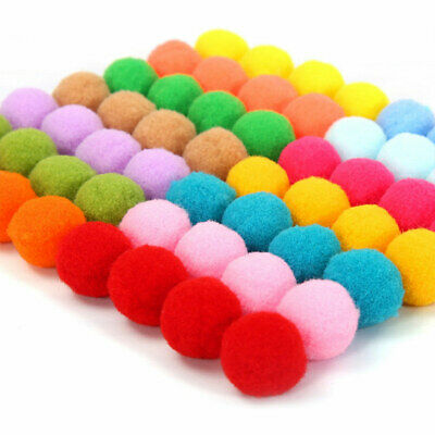 300pcs 25mm Mixed Colors Soft Round Shaped Pompom Balls Fluffy for Kids DIY