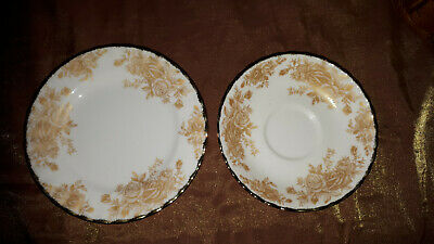 Royal Albert Old Country Roses GOLD Saucer and Butter Plate RARE