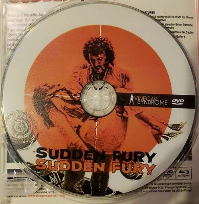Sudden Fury DVD Vinegar Syndrome DVD Disc Only in a Paper Sleeve