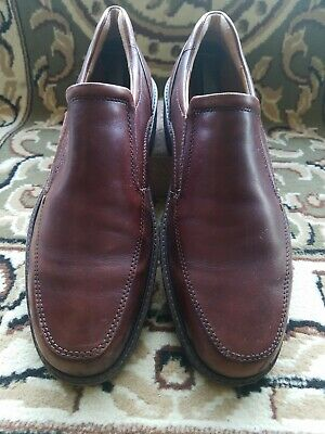 dc73b1ba520 ECCO MENS 44 US 11 WIDE FUSION BROWN LEATHER SLIP-ON Shock Point LOAFERS  SHOES