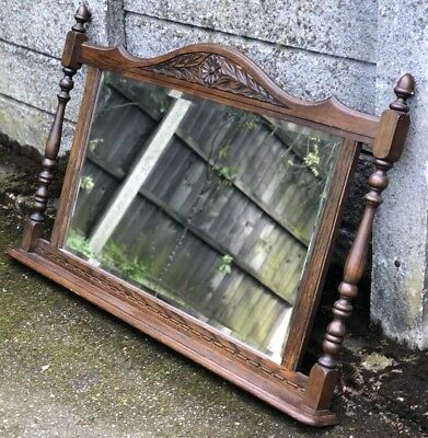 Outstanding Old Charm Large Over Mantle Wall Mirror Very Clean Condition