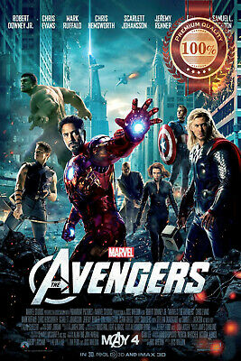 New The Avengers Marvel Official Original Cinema Movie Film Print Premium Poster