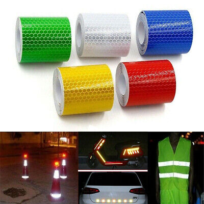 2pcs 5cmx1m Night Reflective Safety Warning Conspicuity Roll Tape Film Sticker