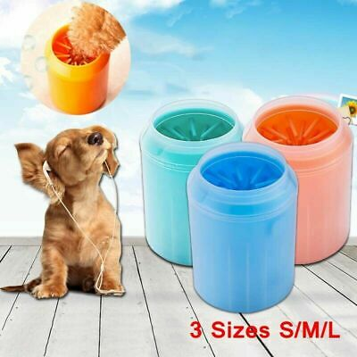 US Portable Cute Pet Dog Paw Foot Cleaner Cleaning Brush Cup Feet Washers Useful
