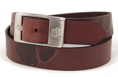 Clemson Tigers NCAA Brandish Leather Belt - Brown - Brand New - FREE SHIPPING