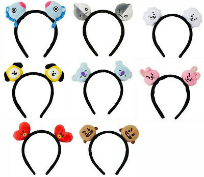 Kpop BTS Bangtan BT21 Headband Hair Band Hairband Chimmy Tata Shooky Vann Gifts