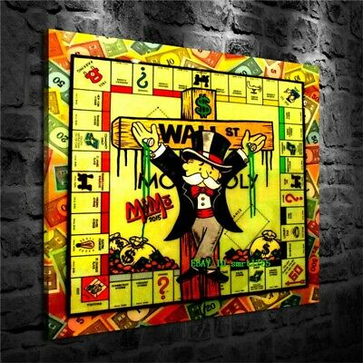 Alec Monopoly Canvas HD Prints Painting Wall Art Home Decor 16x16 inch #27