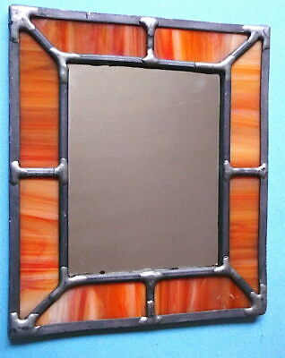 Leaded Window Wall Mirror - Arts & Crafts Style