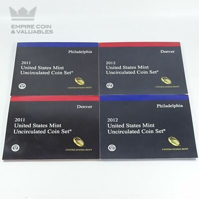 2011 & 2012 United States Mint Uncirculated Coin Sets P & D
