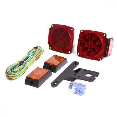 CZC AUTO 12V LED Submersible Trailer Tail Light Kit Stop Turn Signal Lights...