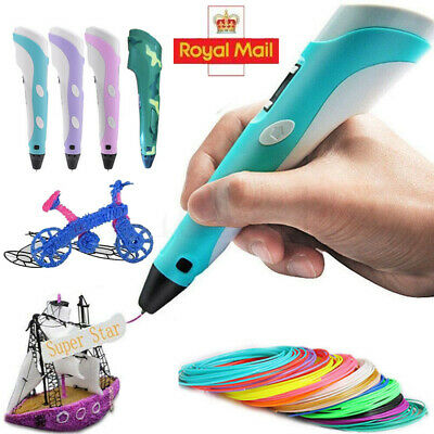 3D Doodle Printing Pen Modeling + Cable +5M Free PLA Filaments as Gift Set New