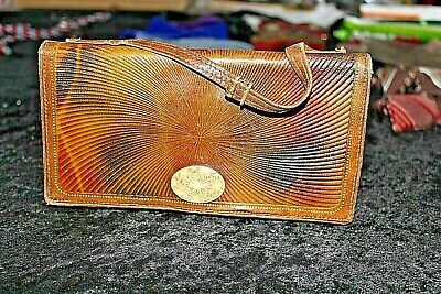 vintage art deco small leather evening hand bag  b/2233