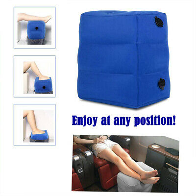 Blue Inflatable Foot Rest Portable Pad Footrest Large Pillow Bed Travel 2019