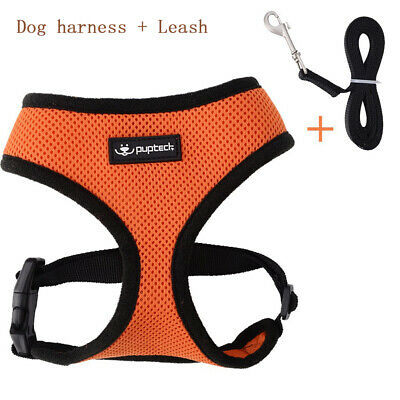 Cat Dog Adjustable Reflective Walking Harness Vest with Lead Leash for Walking