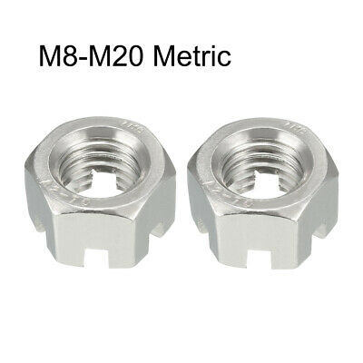 M8-M20 Metric 304 Stainless Steel Slotted Hex Castle Nuts Hexagon Locknuts