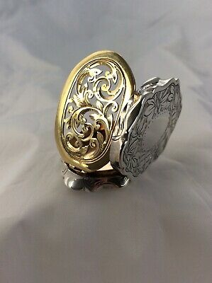 Stunning Oval Collectable Vinaigrette Hm Silver/Gilt Washed 'George Unite' 1901
