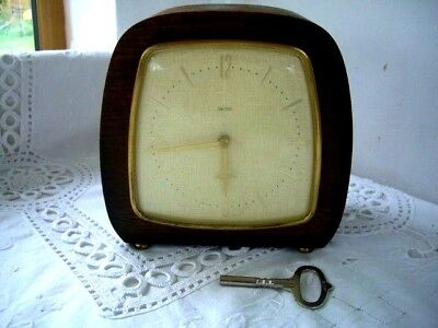Vintage Art Deco 8-Day Floating Balance Mantel Clock-working-keeps good time