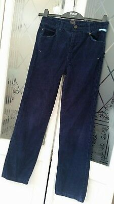 Joules Buckland Corduroy Trousers In Navy Blue Age 11 - 12 Great Condition