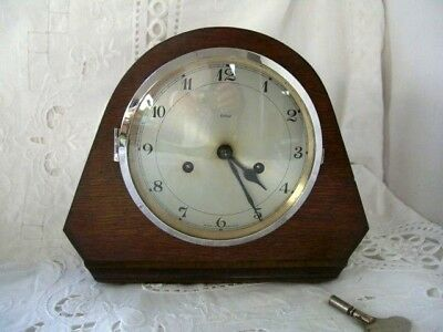 Smiths Enfield mantel clock-working with key-keeps good time