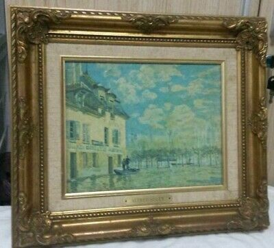 """Reproduction Oil Painting Canvas Alfred Sisley """"Venice"""" Frame 15 1/2""""L x 13""""H"""