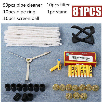 Tobacco Smoking Pipe Accessories + Holder Filter Ring Cleaner Screen Filter Ball