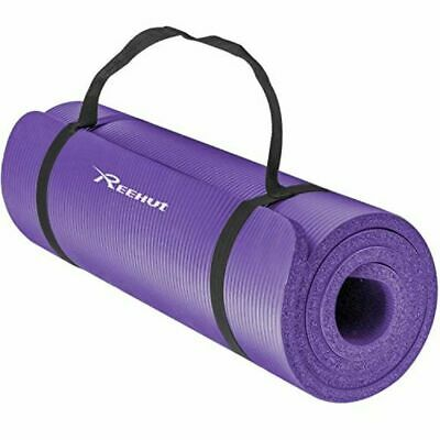 Reehut 1/2-Inch Extra Thick High Density NBR Exercise Yoga Mat for Pilates, Fitn