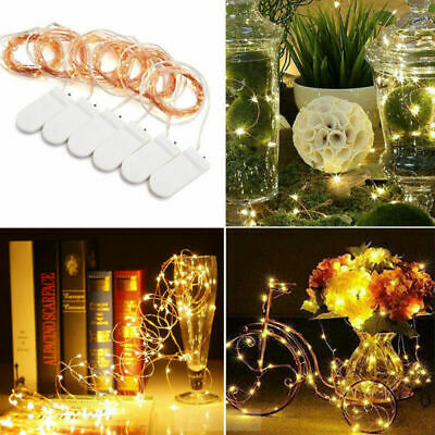 6Pack 2M 20 Wire Copper Fairy LED Battery Micro Rice String Lights Party Decor