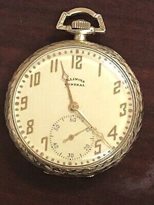 14k Solid Gold Antique Pocket Watch - Illinois Watch Co