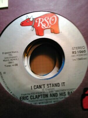 Eric Clapton and His Band, I Can't Stand It ~ 1981 RSO 45 +sleeve