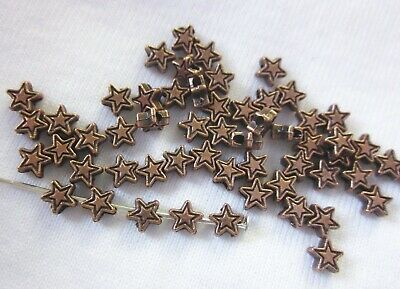100 Antique Copper Coloured 4mm Star Spacer Beads #sp0172 Jewellery Making Craft