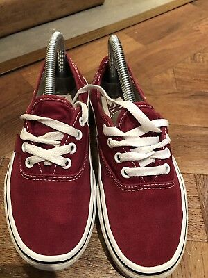 Vans Authentic Classic Red UNISEX  Shoes us 5.5 Mens uk4 or Womens us 7, uk4