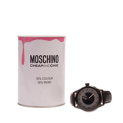RRP €129 MOSCHINO CHEAP AND CHIC Quartz Watch Analogue Leather Strap MW0340