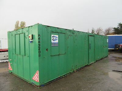 32ft x 10ft SITE CABIN SITE CANTEEN PORTABLE BUILDING OPEN PLAN UNIT £3000 + VAT