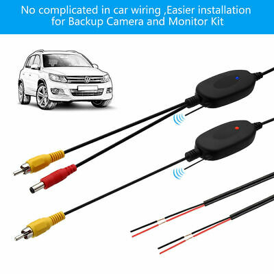 12V Wireless Rear View Video Transmitter & Receiver for Car Truck Reverse Camera