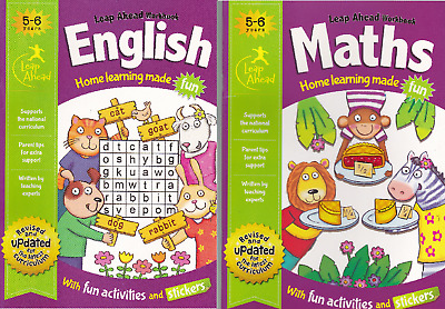 English & Maths Age 5-6 Keys Stage 1 Activity Learning Homework School Workbooks