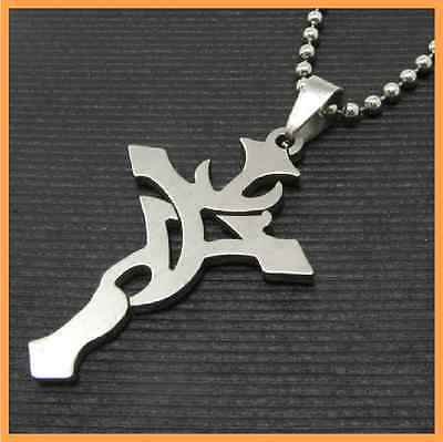 Fashion Jewelry 316L Stainless Steel Silver cross Pendant Womens Mens Necklace