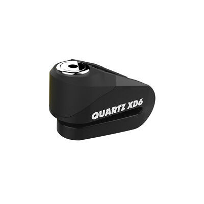 Oxford Quartz XD6 Motorcycle Scooter Disc Lock 6mm Pin Strong Alloy - Black